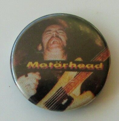 LEMMY MOTORHEAD BOMBER VINTAGE METAL BUTTON BADGE FROM THE 1980's