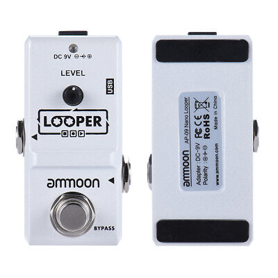 ammoon AP-09 Nano Loop Electric Guitar Effect Pedal Looper 10 Min Record F3I6
