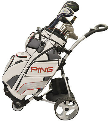 Deluxe Aluminium Digital Electric Powered Golf Bag Trolley/Battery Cart