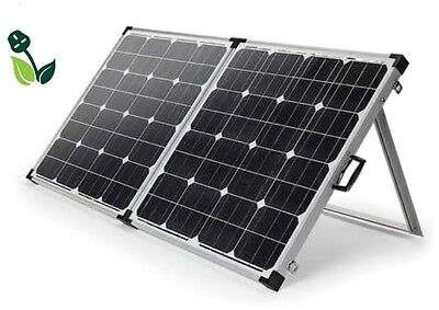 120W Foldable Solar Panel Mono Portable Kit 12V Battery Charger Camping Caravans