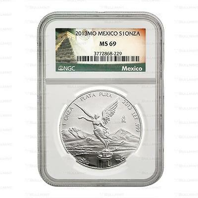 Brand New 2013 Mexican Silver Libertad 1oz NGC MS69 Graded Slab Coin