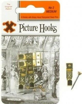Shaw X Picture Hooks Brass Plated No.2 X 40