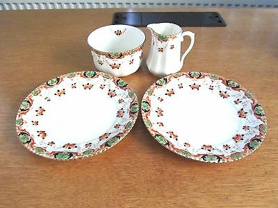 Vintage Phoenix China Two Plates Bowl & Jug Made In England