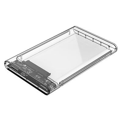 USB 3.1 Type-C 2.5 Inch Hard Drive Disk Case for SSD HDD Enclosure Transparent