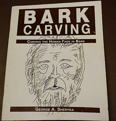 BARK CARVING by SHERYKA WHITTLING BOOK HUMAN FACE SCULPTURES IN BARK HOW TO DO