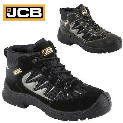 Mens Jcb Waterproof Safety Work Boots Steel Toe Cap Shoes Womens Trainers Sizes