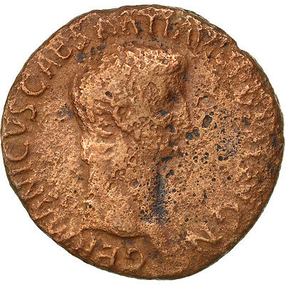 [#35167] Germanicus, As, Roma, VF(20-25), Bronze, RIC #106, 9.42