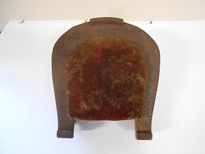 Unique Antique  Vintage Horseshoe Shaped Footstool With Very Old Upholstery