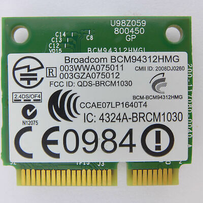 Broadcom BCM94312HMG Wlan Modul (Half) 802.11 a/b/g wifi card (Half) wireless 15