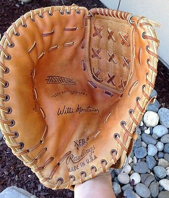 Willie Montanez Rawlings Usa Xfb6 Large Size First Base Mitt