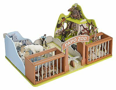 Kids Toys Fun Play Games Papo The Zoo Playset High Quality Product Fun Gifts