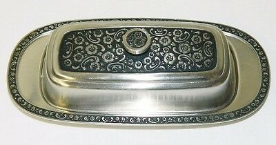 "Stainless Steel Butter Dish Serving Tray Storage Vintage Design 8.5"" x 4"""