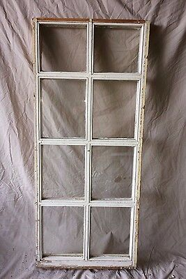 Antique 8 Lite Window Shabby Cottage Chic Vintage Old 1843-16