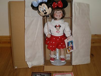 "Ashton-Drake Galleries  ""  Disney World Girl  "" Porcelain Doll ( Retired New )"