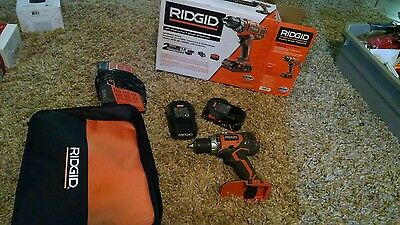 "18-Volt Lithium-Ion 1/2"" Cordless Compact Drill/Driver Kit Ridgid. P3"