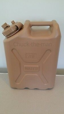Jerry Military Container Water Can Plastic 5 Gallon Storage TAN Color Emergency