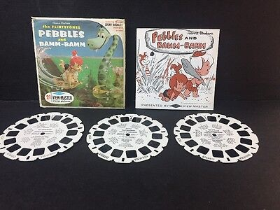 1964 The Flintstones PEBBLES & BAMM-BAMM View-Master Reels B520 with Booklet