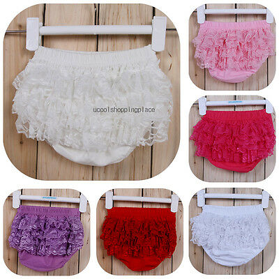 Baby Girls Kids Child Cotton Lace Underwear Bottom Training Pants Diapers Cover