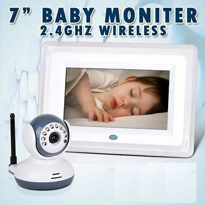 2.4G Wireless Digital Baby Monitor 7 Inch LCD Receiveer + Night Vision Camera