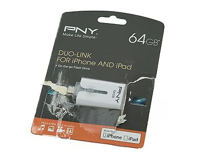 PNY 64GB Duo-Link USB 3.0 Flash Drive for Apple iPhone & iPad P-FDI64GOTGAMG3-GE