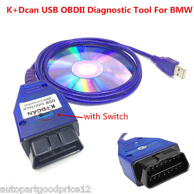 K+DCAN USB Interface with Switch OBDII Diagnostic Cable INPA EDIABAS for BMW E92