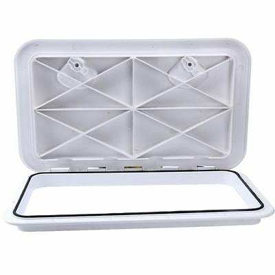 White 607mm x 243mm ACCESS HATCH & LID - Boat/Marine/Caravan/RV/Storage NEW