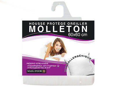PROTEGE OREILLER 60x60 ALESE HOUSSE PROTECTION 100% COTON HYPOALLERGENIQUE
