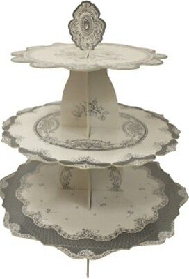 3 Tier cake stand Porcelain style Holds 3 levels of Cupcakes Holder Stand