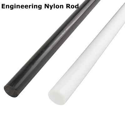 100-600mm Blanco/Negro Nylon Rods Varilla Redondo Bar Ingeniería 10MM - 30MM