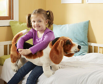 Basset Hound Dog Plush Soft Toy - Life Size & Lifelike - New - Childs
