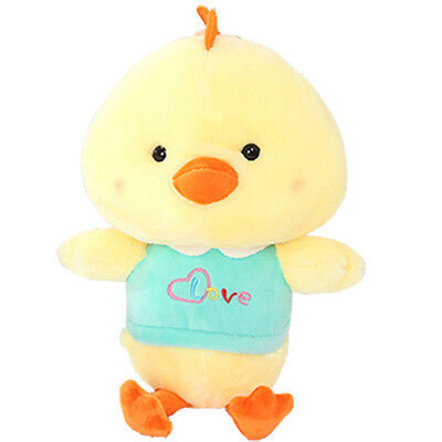 Cute Yellow+Blue Chicken Rooster Baby Kids Stuffed Soft Plush Toy Dolls 11""