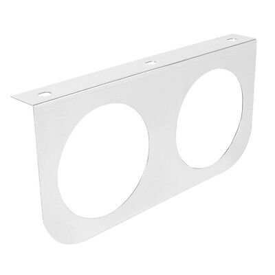 """light bracket """"L"""" shape with 2 round 4"""" sealed light cutout stainless steel each"""