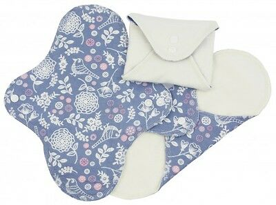 ImseVimse Organic Cotton Regular Cloth Pads Sanitary Towels - Garden -Pack of 3