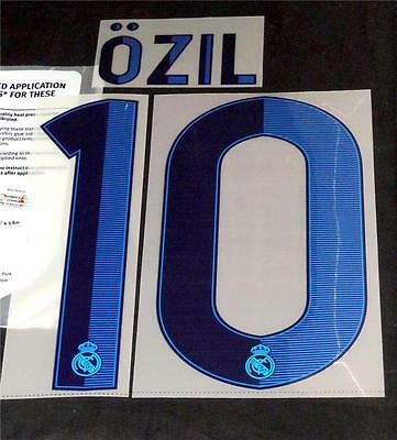 Real Madrid ozil 10 2012/13 Home Football Shirt Name/Number Sporting ID