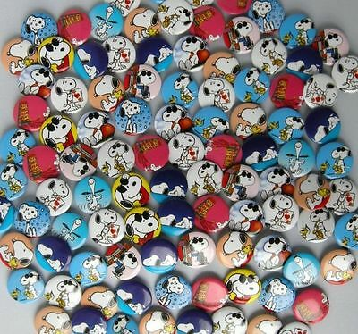 Peanut Gang Snoopy 105pc 25mm PIN BACK BADGES BUTTONS NEW BAG CLOTH PARTY US