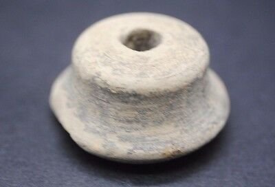 Ancient Terracotta Bronze-Age Spindle Whorl 3Rd - 2Nd Millennium Bc