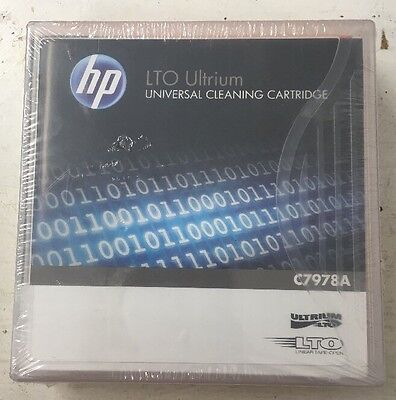 Genuine HP C7978A LTO Ultrium Cleaning Cartridge - New, Sealed