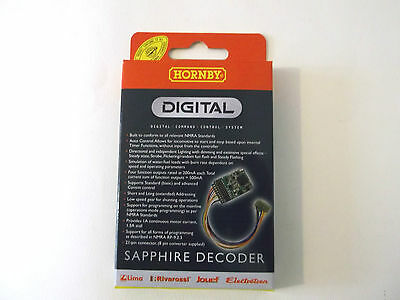 HORNBY R8245. Sapphire DCC Loco Decoder, 21pin with 8 pin adaptor, NMRA - NEW
