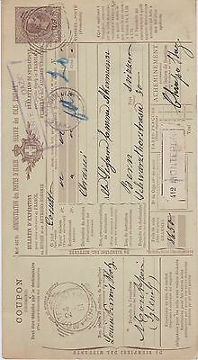 Italy-1901 1.25 L brown PS packet card Monteponte cover to Bern, Switzerland
