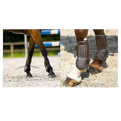 Eric Thomas Synthetic Open Front Tendon Boots Brown
