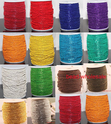 5/100m New Various Colors Cable Open Link Metal Chain Jewelry Findings For Craft