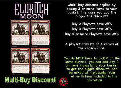 MTG Eldritch Moon EMN Choose your uncommon playset (x 4 cards) Letters A-L  M/NM