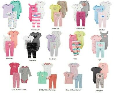 NEW NWT Girls Carter's 3 Piece Set Newborn 3 6 9 12 Months Fox Whale Monkey Owl