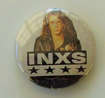 INXS VINTAGE METAL BUTTON BADGE FROM THE 1980's MICHAEL HUTCHENCE