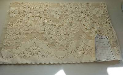"Antique c1930s Arts & Crafts Curtain cotton lace panel 54""x36"" deadstock.sample"