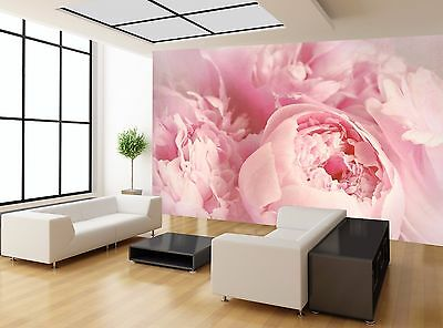 Peony Flowers Pink Purple Vintage Wall Mural Photo Wallpaper GIANT WALL DECOR