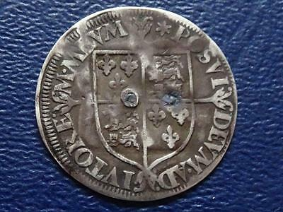 Great Britain  Elizabeth 1St Hammered Silver Groat 1562 Mm Star Holed