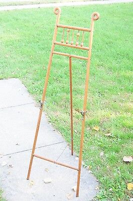 Antique Victorian Stick & Ball Art Easel Bentwood Oak AMAZING CONDITION
