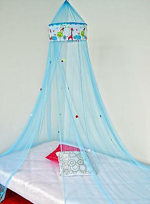 BLUE bed canopy ZOO MOSQUITO NET
