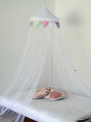COLOURFUL bed canopy KIDS MOSQUITO NET DOTS